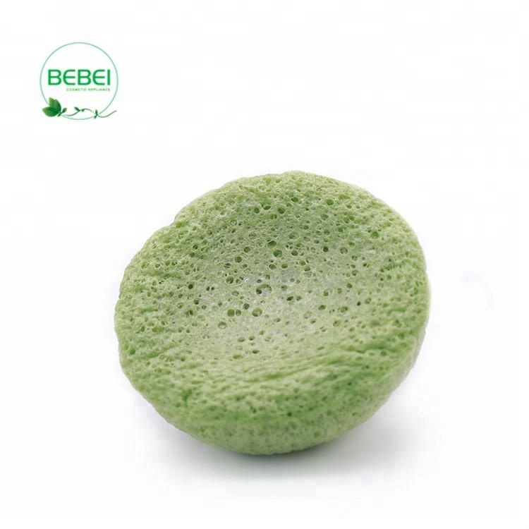 Factory manufacture fluorescent green half-ball shape oven-drying cosmetic sponge makeup imported from china