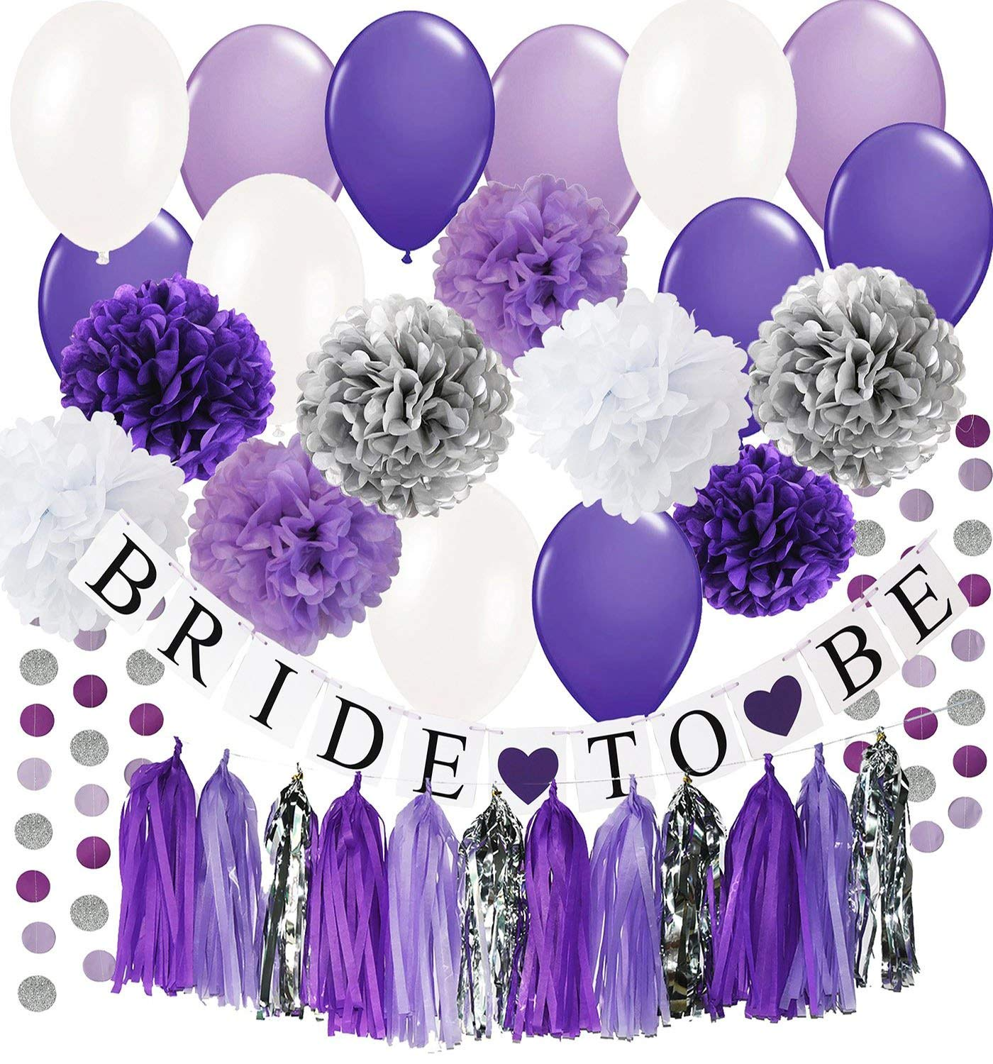 Cheap Purple And Silver Party Decorations Find Purple And Silver