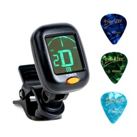 Amazon hot sell LCD Digital AT-101 Guitar Tuner chromatic for bass,ukulele,violin