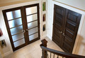 Custom entry door exterior double door wood framed glass door