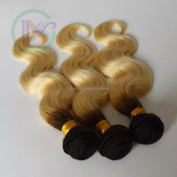Longxin Hair Supply: Two tone color, body wave, double machine weft, human hair weaving