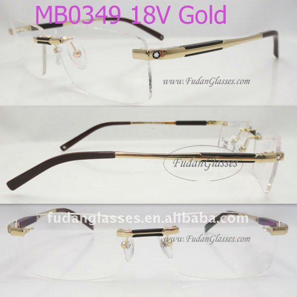 metal frame MB0349 rimless optical frame fashion reading glasses