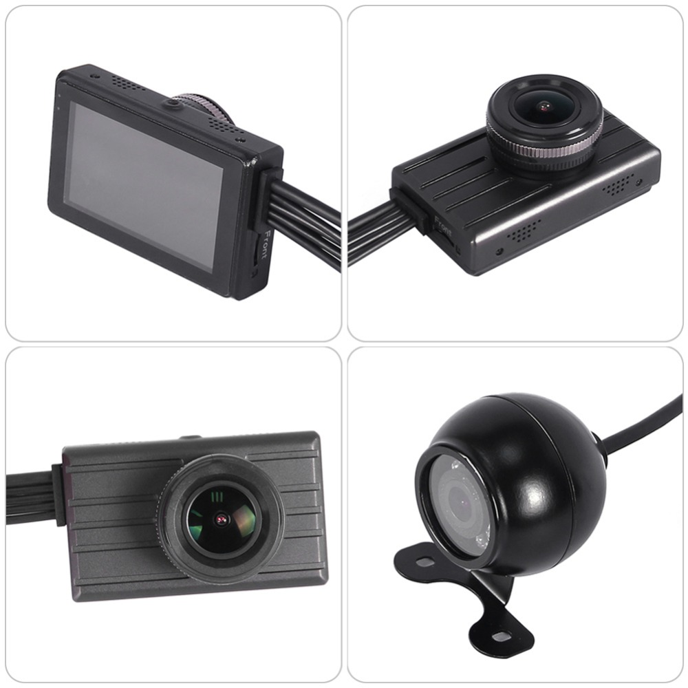 3CH truck dvr 360 degrees safe minitor video recorder for car driver waterproof night vision lens cycle recording