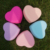 Embossed logo heart shape multifunctional soft facial cleansing make-up brush cleaner glove silicone make up brush cleaner