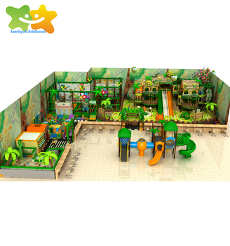 Jungle theme kids zone soft play indoor playground equipment for game center