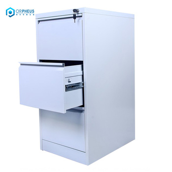 A4 Folder Office Storage Lockable Metal Cabinet Vertical 3 Drawer File For Ministry
