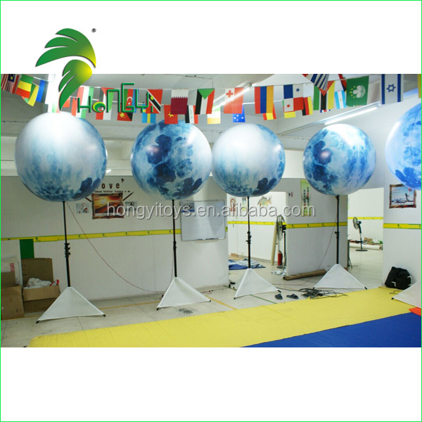 Hot sale inflatable tripod led light moon balloon for decoration