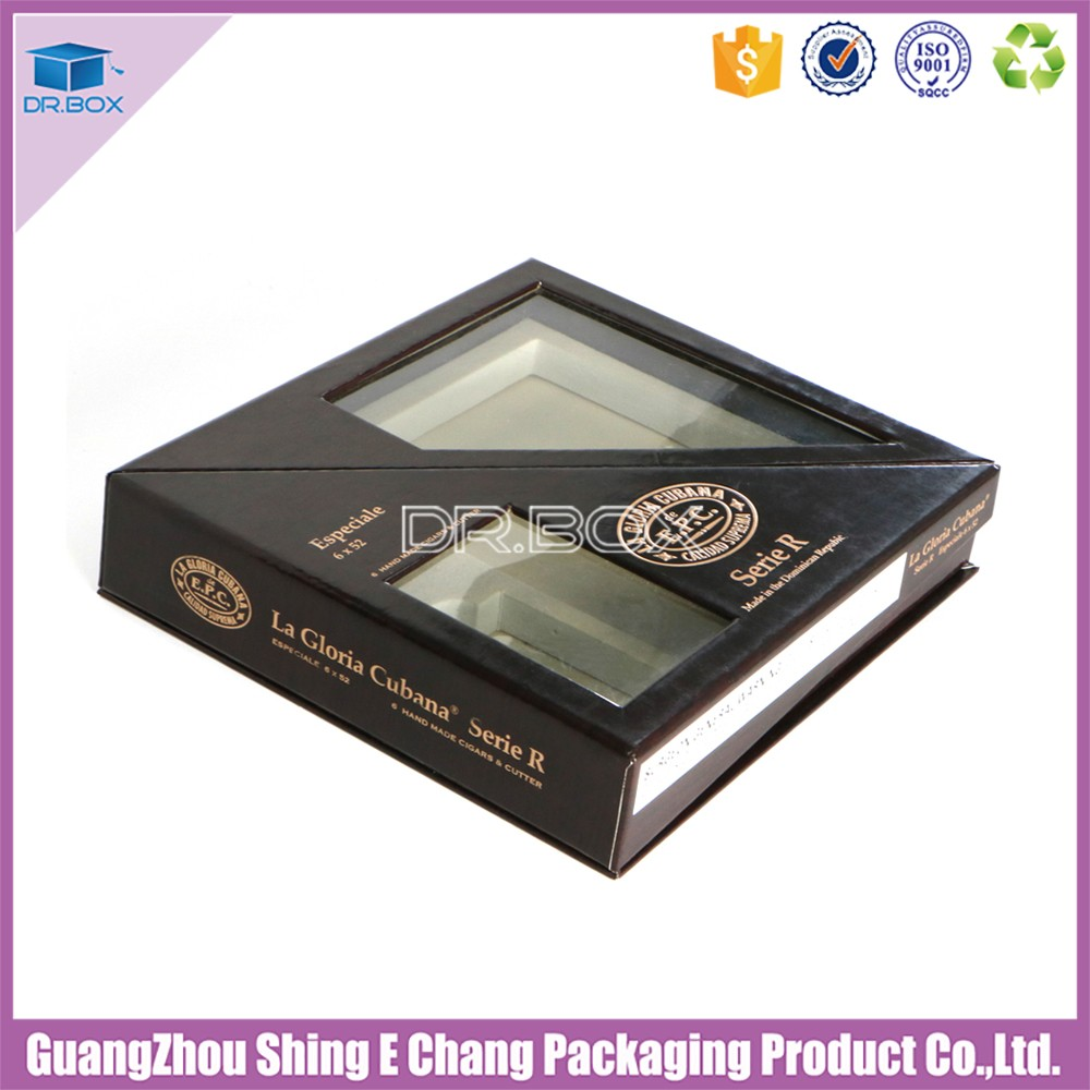 Luxury customized fancy design paper cigar box/cigarette packaging with foam insert