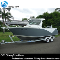 6.25m/21ft deep v full welded aluminium fishing boat with center console