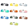 High Quality Rimless Rectangle Flip Up TAC UV400 Polarized Clip On Sunglasses