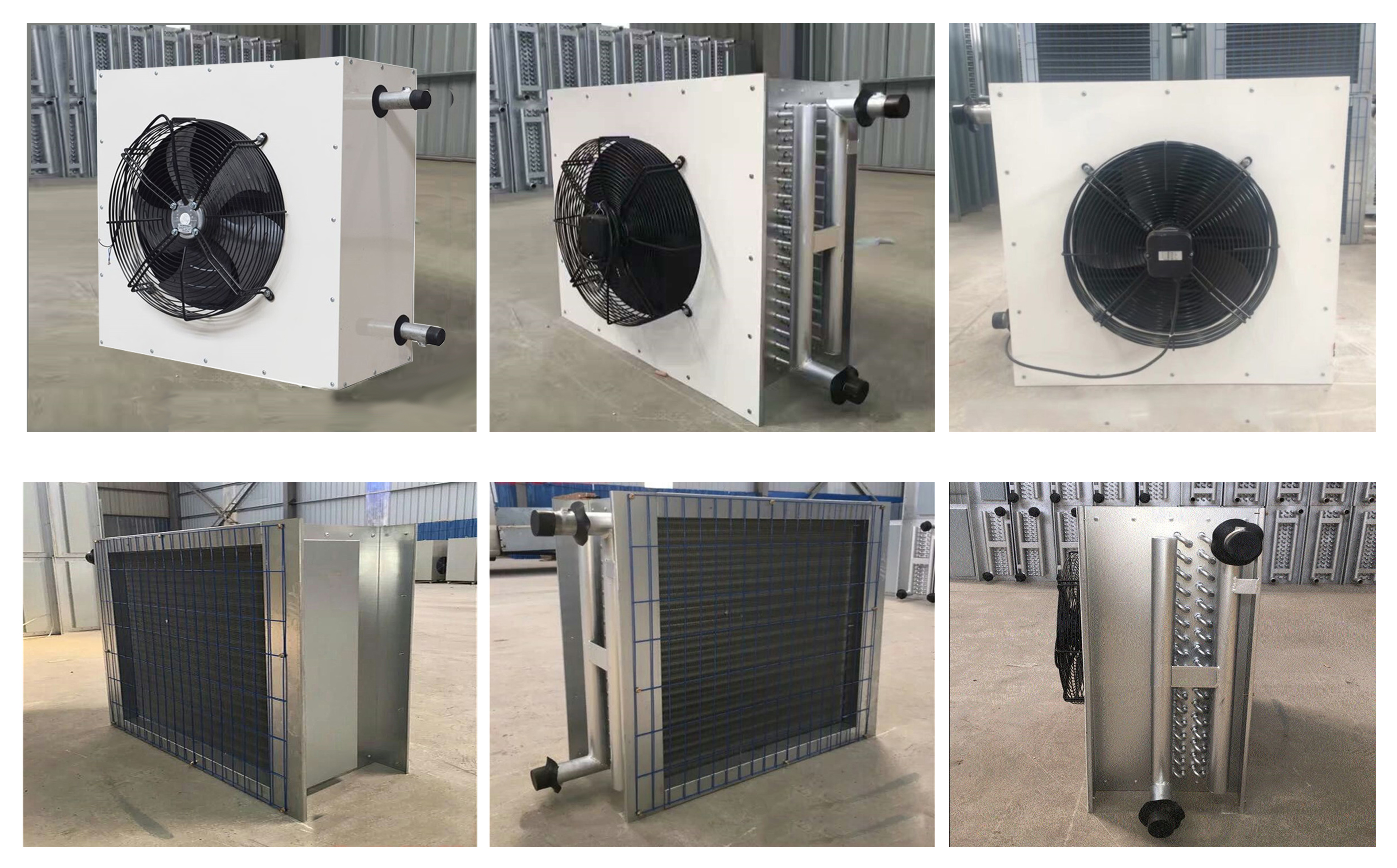 fin Cooper tube coil heat exchanger for greenhouse poultry farm house chicken pig cow house