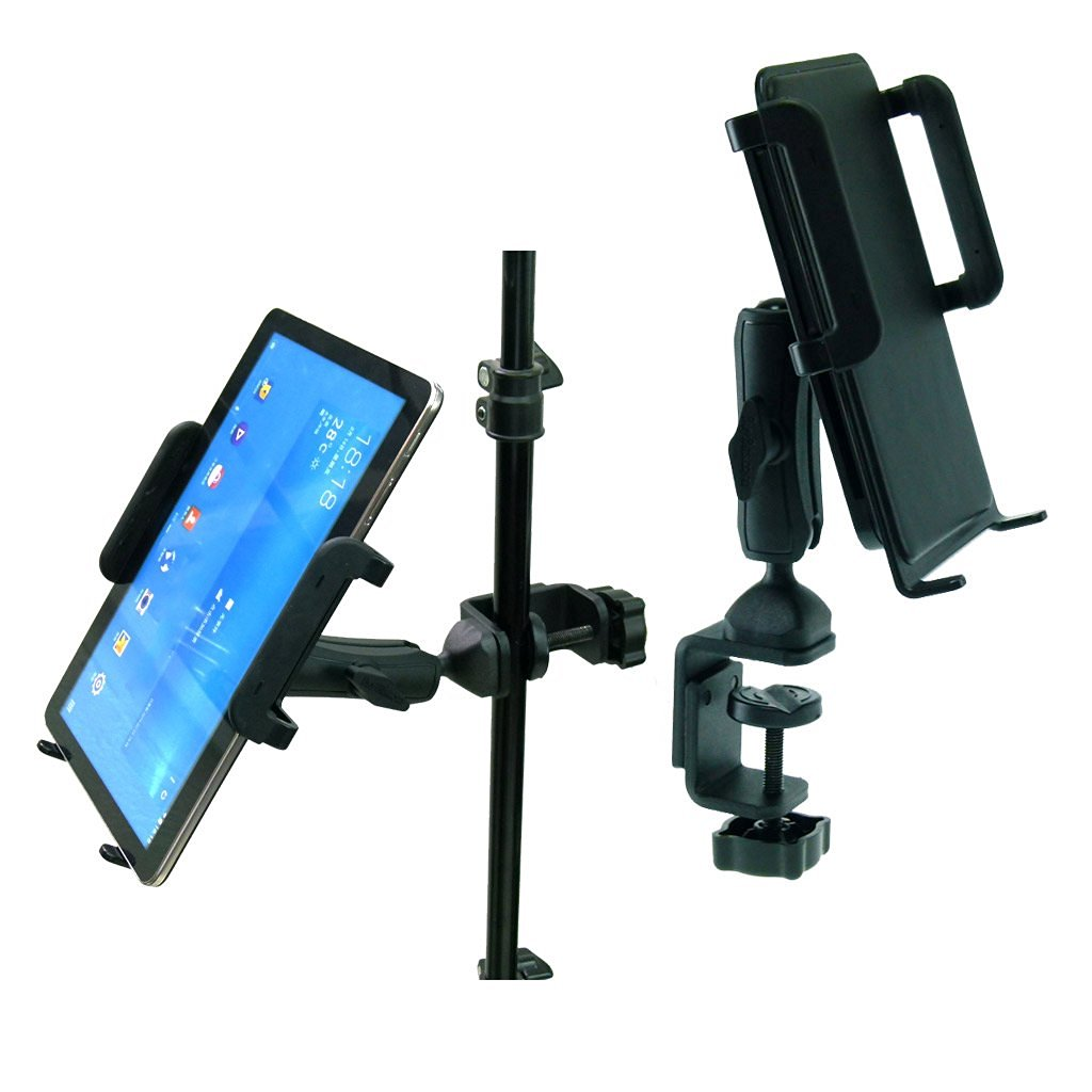 BuyBits Heavy Duty Adjustable C-Clamp Music Stand / Counter Top Mount for Samsung Galaxy Tab A (9.7)