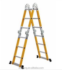 NEW compact fiberglass step folding platform ladder