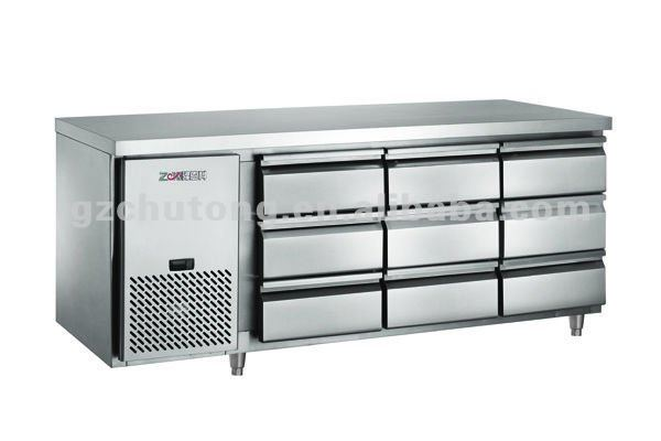 Undercounter Drawer Chiller Ct1900ard9h Refrigerator Cabinet 2 Door Stainless Steel Product On Alibaba