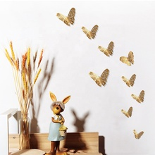 3D Metallic Feel Flying Hanging Paper Butterfly for party wall decorations