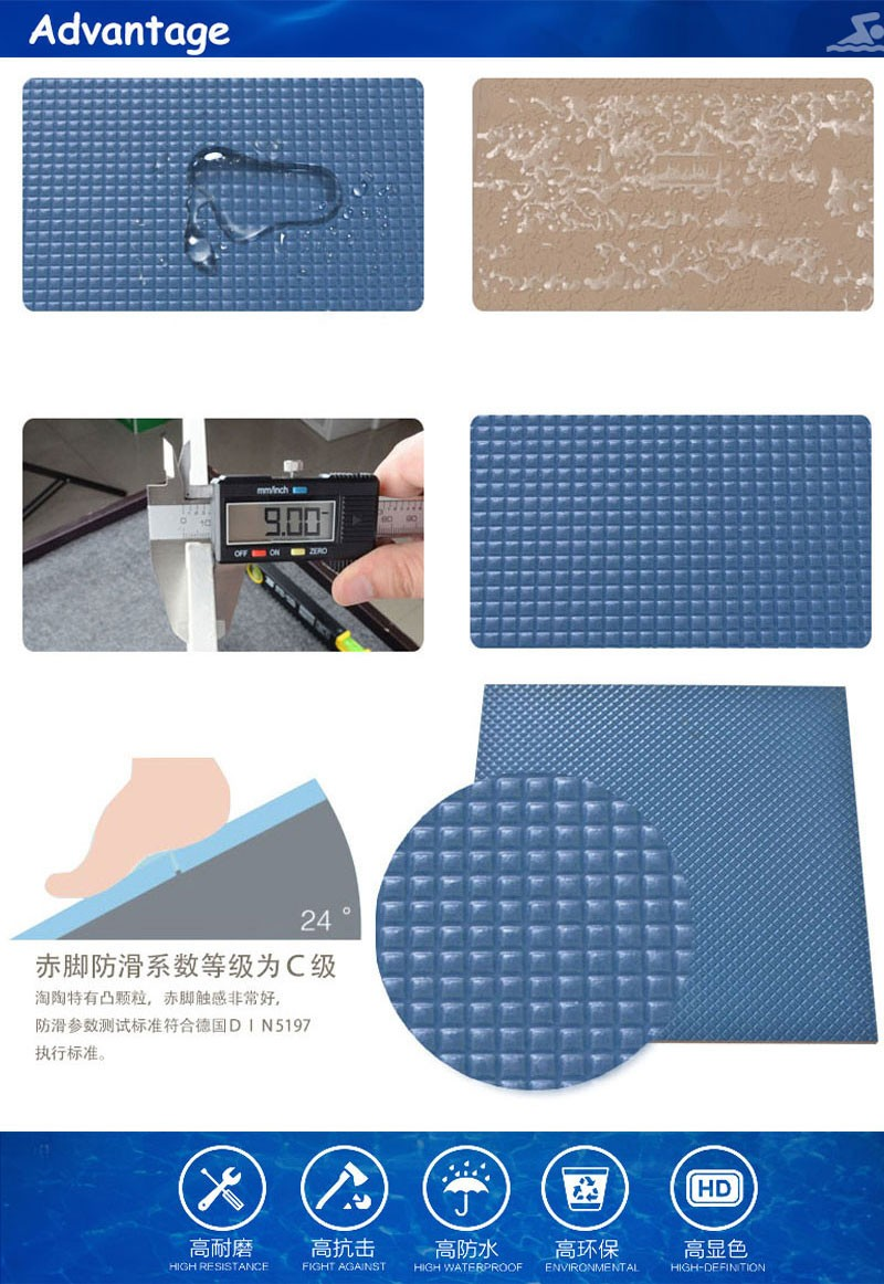 300x300 blue exterior wall and floor tile cheap swimming pool tiles ...