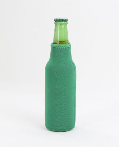 Insulated Zipper Neoprene Beer Bottle Cooler Sleeve Cover