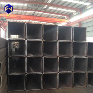 mild rectangular 100x100 iron ms structure square s235jr erw black welded steel pipe with CE certificate