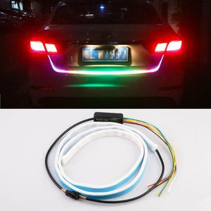 Car Styling LED Strip Light Brake Lights Auto 2 In 1 Red and Blue Strobe Turning Signal Lamp for Car 12V Car Tail Box Rear Light