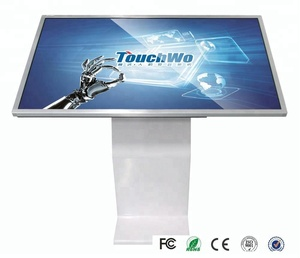 "55"" 4k uhd tft LCD android window dual system computer OPS pc tablet/customized usb ir touchscreen frame multi infrared monitor"