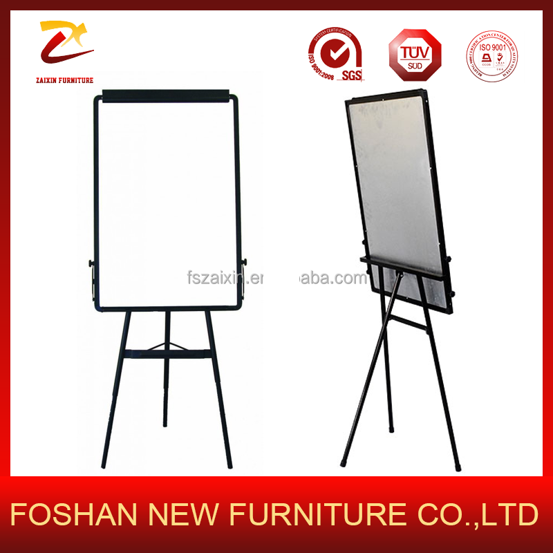 Magnetic white board dry erase tripod board/ Flip chart whiteboard with clip