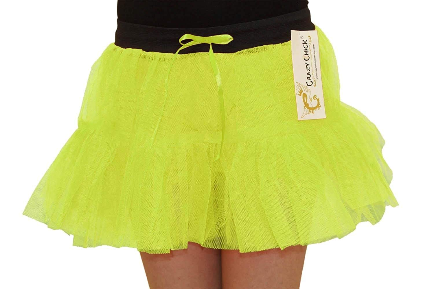 97977e2706 Get Quotations · Rimi Hanger Womens 1980s 2 Layers Neon Colour Tutu Skirts  Ladies Hen Party Dance Wear Skirt