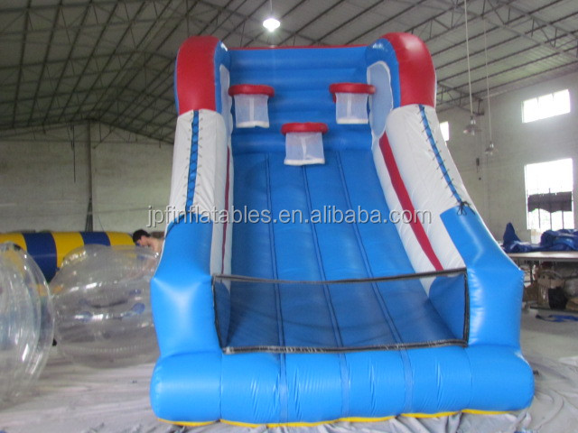 2019 amusement park equipment inflatable basketball court with hoops for sale