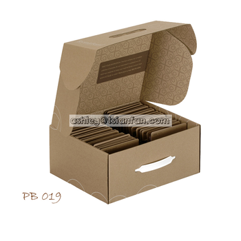 samples merchandising cheap display case/portable stone display sample box PB019