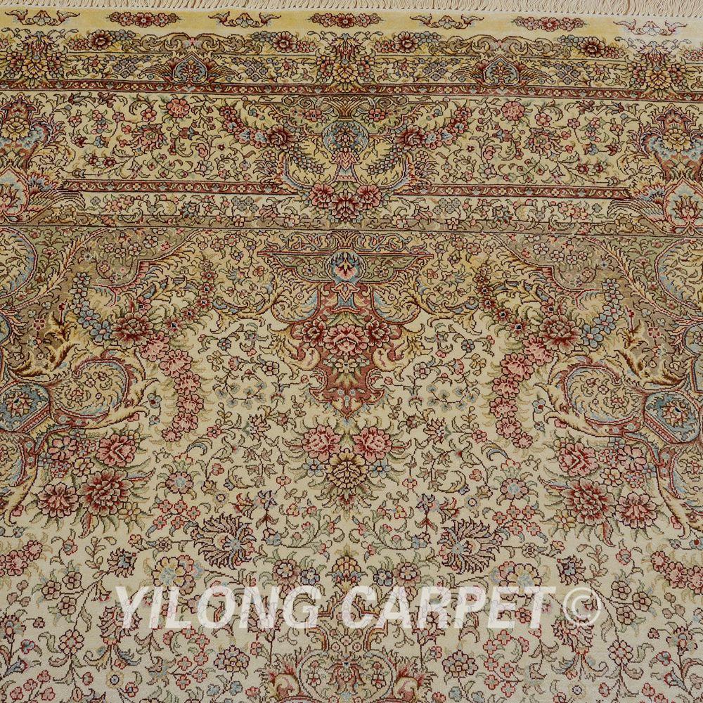yilong 6x9 nou vieux tapis de soie oriental persan antique lavage - Lavage Tapis