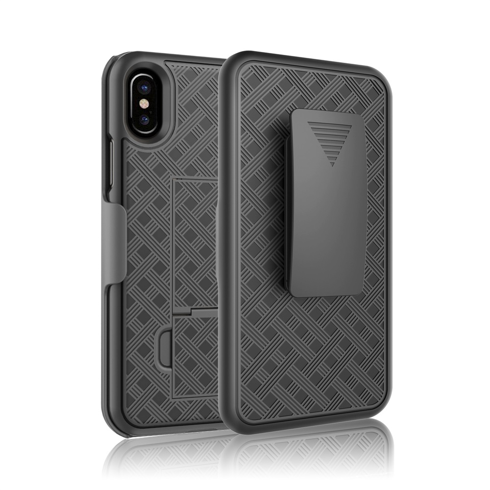 Hard PC 2 in 1 shockproof heavy duty phone case with kickstand for Apple iphone X/ 8 Plus phone accessories mobile