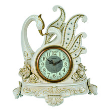 Decorative swan table clock TS1457