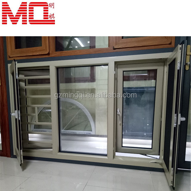 Aluminum casement window with Fly screen bay windows for sale