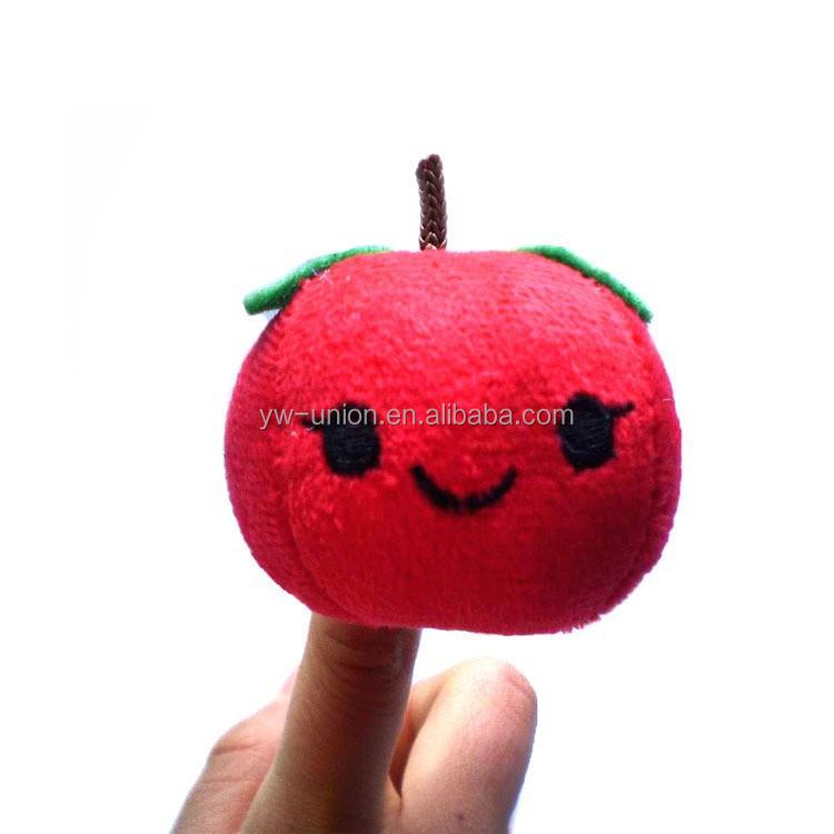 10 pcs Plush Cotton Finger Puppets Cartoon Fruit Vegetable Doll Educational Toys