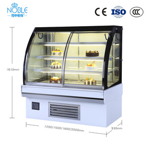 high quality cake showcase display fridge in bakery for cake,bread,ice cream