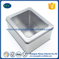 Fashion square tin containers with lids