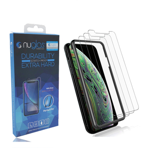 Customize your logo tempered glass screen protector with easy installation applicator with OEM packaging for iPhone xs max xr