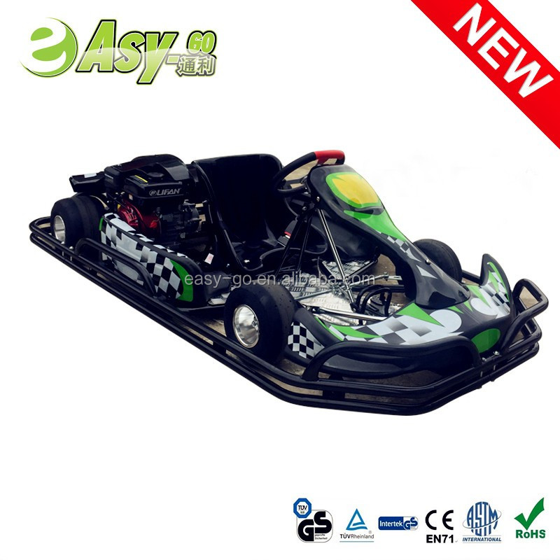 Easy-go hot 200cc/270cc 4 wheel racing go kart 200cc honda engine with wet clutch with steel safety bumper pass CE certificate