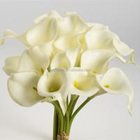 High quality PU mini calla lily artificial hanging flower arrangements
