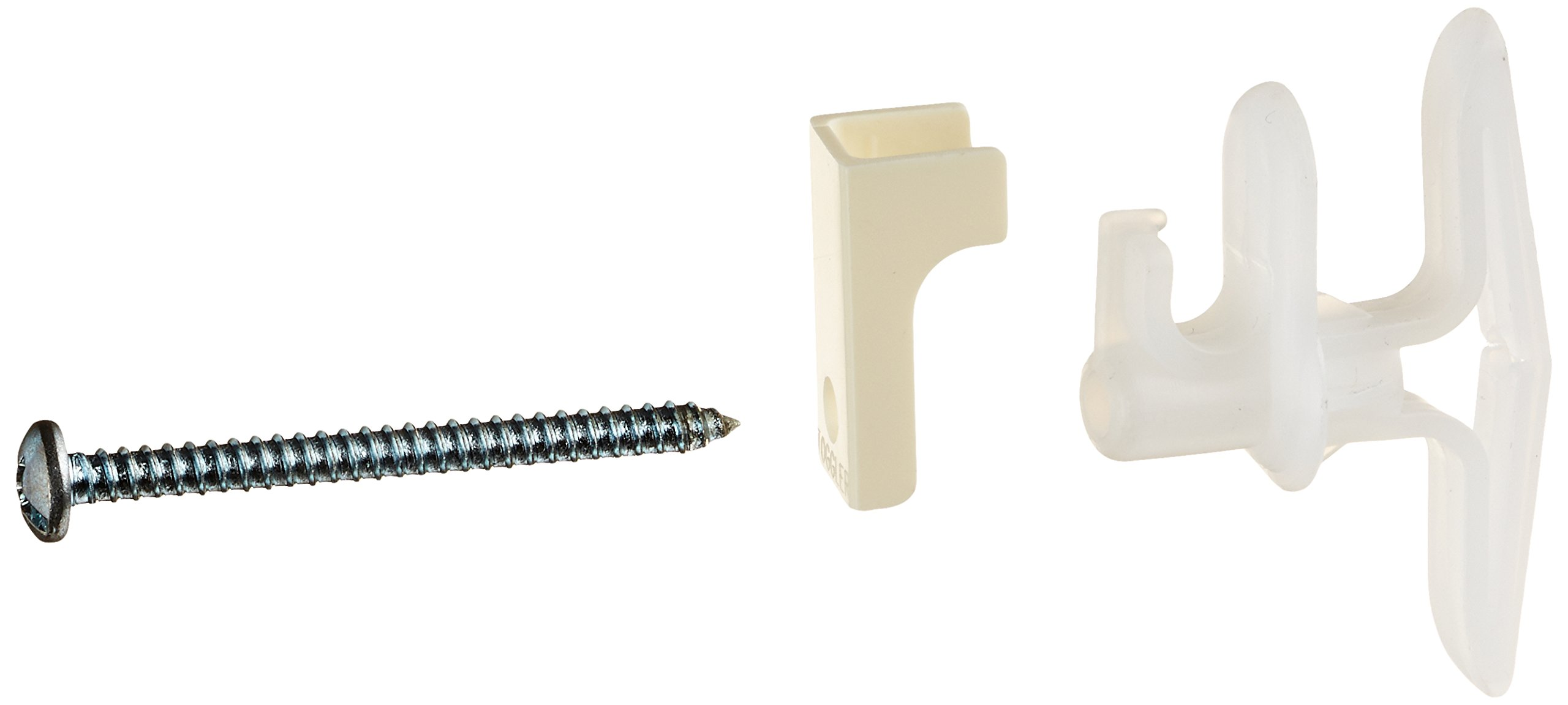 "TOGGLER TBW Wire-Shelf Anchor with Screws, Made in US, 3/8"" to 1/2"" Grip Range, For #8 x 1-3/4"" Fastener Size (Pack of 5)"