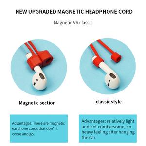 Silicone headphones lanyard Earphone neck Strap Amazon new arrival