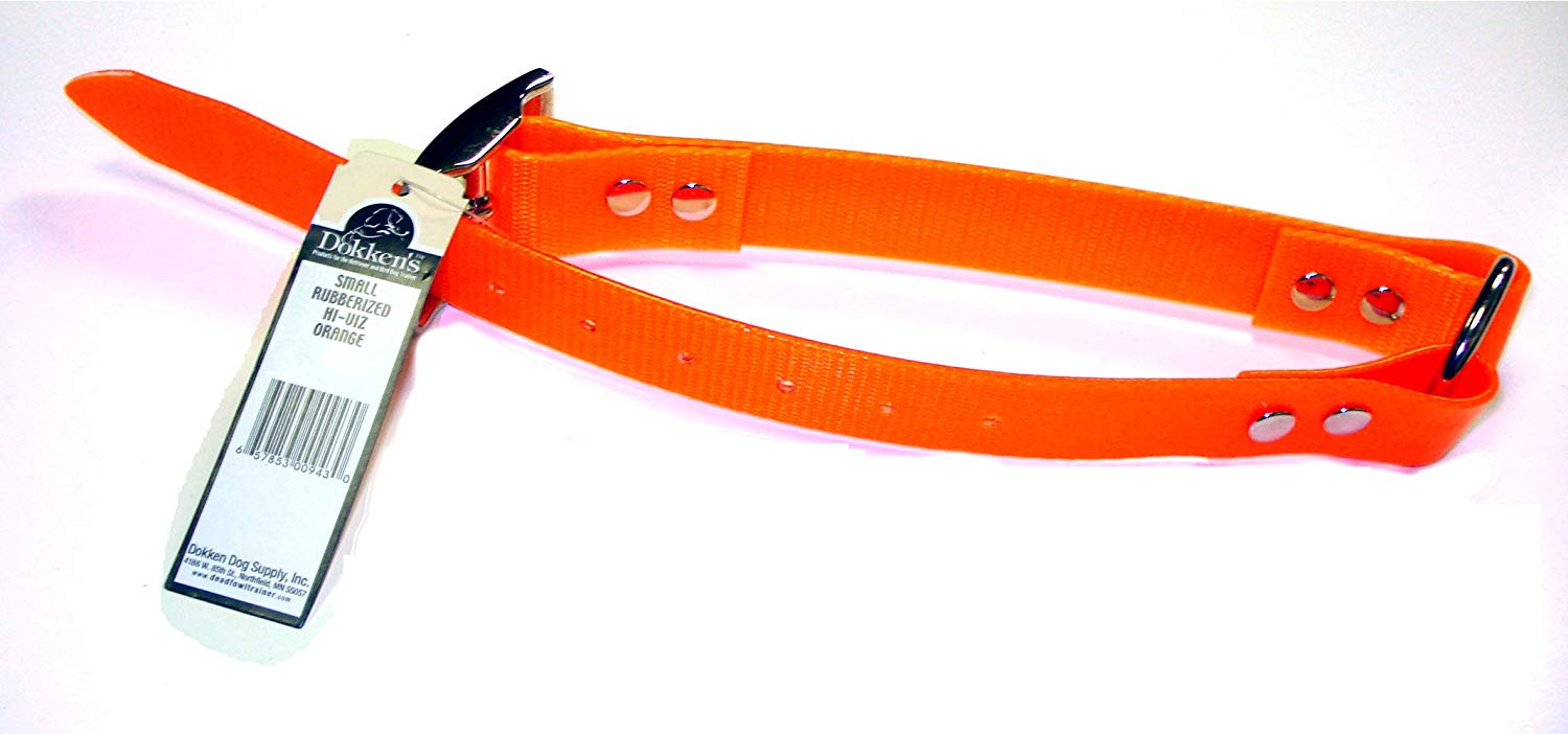 Small Orange Rubberized Collar Leash | CRO-S | Hunting Dog Training Dokken's