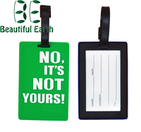 Fashion custom gift airplane soft pvc pu leather luggage tags