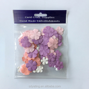 Handmade artificial paper flower petal leaves for scrapbook decoration
