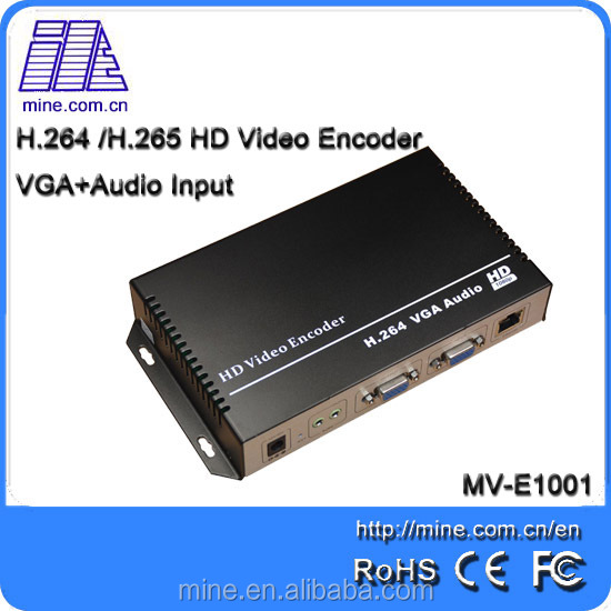 Hdmi+VGA Input Hd 1080p H.264 Video Encoder For Live Streaming/Webcasting/ Broadcasting