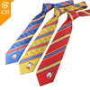 Custom High Quality Colorful Polyester Striped Company Logo Tie for Men