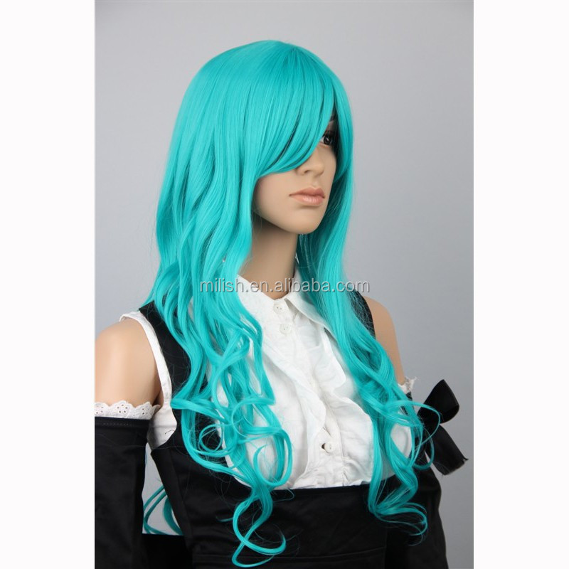 MCW-0147 wholesale japanese hot dark blue cosplay wig/ anime wig