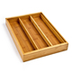 Factory Supply bamboo cutlery drawer organizer cosmetic tray adjustable wood
