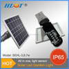 Helist Long life span 3W 6W 7W All in one solar Led garden light