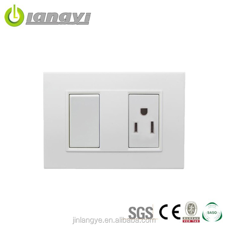New Designed South American Standard Wall Socket And Switch Integration