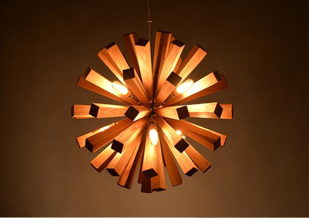 Plafoniere Con Base In Legno : Moderno legno brown dente di leone led luci plafoniere lampada a